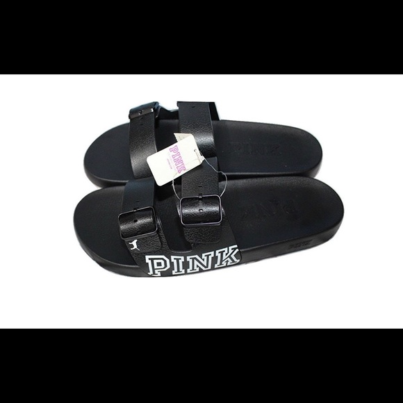 48326f289de New Victoria s Secret PINK buckle slides (M) NWT